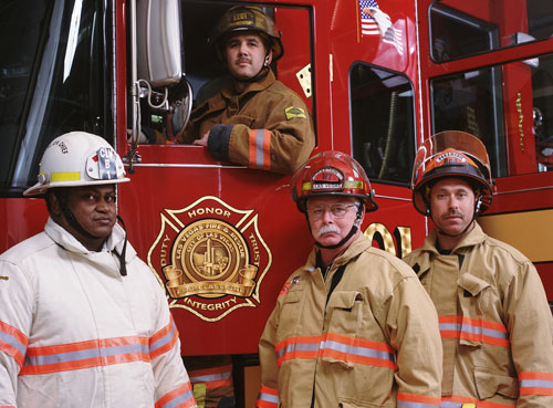 FSRS Skip Gibson, Manager; Fred Brower, Manager; Mike Waters, Vice President Mark Light, Chief Executive Officer and Executive Director, International Association of Fire Chiefs Courtney Bulger, IAFC Assistant Director, Development and Corporate Relations Joe Masington, Assistant Vice President; Al Conners, Manager and Robert (Butch) Cobb, Director